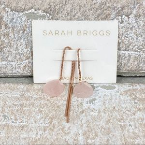Sarah Briggs Rose Gold / Quartz Threader Earrings